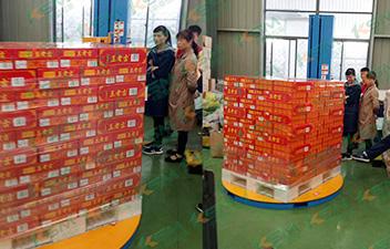王老吉饮料行业缠绕包装机案例